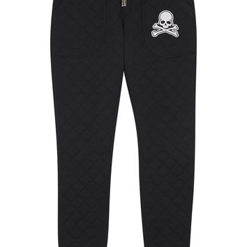Philipp Plein Black quilted jogging trousers