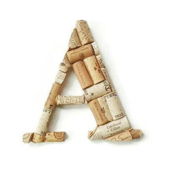 Wine cork letter A | monogram letter | decorative letters | wine cork crafts | wedding gift | wine cork letters | cork holder