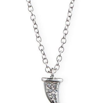 Judith Jack Sterling Silver and Crystal Arc Pendant Necklace