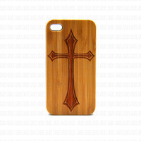 Real Wood iPhone 4s Case, Cross iPhone 4s Case, eyes iPhone 4s Case, Wood iPhone Case,
