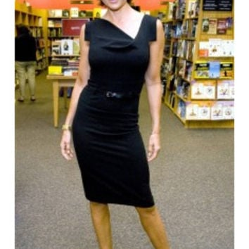 Black Halo Jackie O Dress in Black as seen on Lisa Rinna & Kelly Ripa