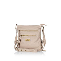 Light beige mini messenger bag