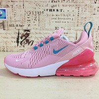 Nike Air Max 270 Women Light Pink Red Sport Running Shoes - Best Online Sale