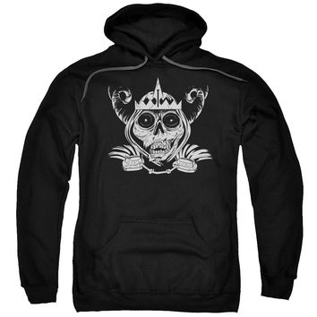 Adventure Time - Skull Face Adult Pull Over Hoodie