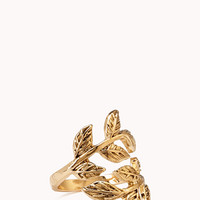 FOREVER 21 Down To Earth Leaf Ring Gold 7