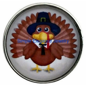 Thanksgiving Turkey Snap 20mm for Snap Jewelry