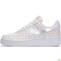 SALE - Nike Air Force 1 '07 + Crystals - White/Cone