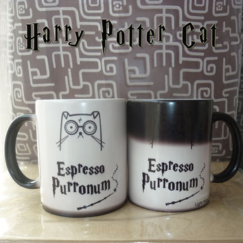 Harry Potter Espresso purronum Cute Cat Color Changing Mugs