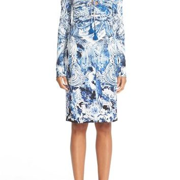 Roberto Cavalli Lace-Up Print Jersey Dress | Nordstrom