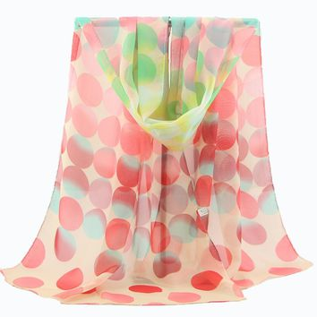2015 fashion hijab from india women sale dots print adult spring winter new korean chiffon scarves ms. velvet long shawl Scarf