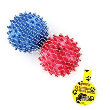 Soft Sturdy Rubber Spike Dog Balls Set of 24 Pack