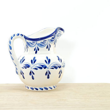 Monaco blue jar - Kitchen in cobalt blue - Navy blue serving jar - Talavera jar - Serving sauce ceramics