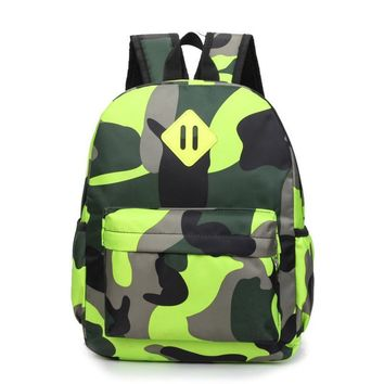 Children Shoulder Bag Boys and Girls Pack Personalized Camouflage Backpack Primary School Students Light Breathable Schoolbags