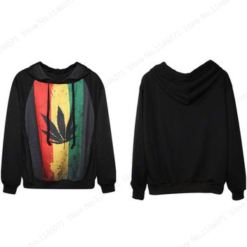 South Africa Hooded Sweatshirts Red Green Yellow Stripes Skateboarding Hoodies Maple Leaves Harajuku Tracksuits Moletom Feminino