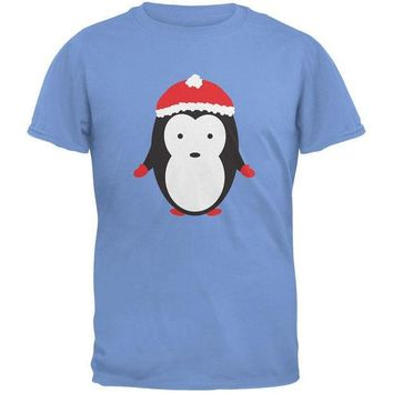 CREYCY8 Christmas Cute Penguin Carolina Blue Youth T-Shirt