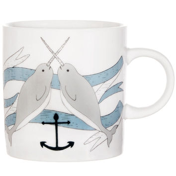Nautical Dream Narwhal Print Mug