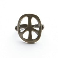 Brandy ♥ Melville |  Gold Peace Ring - Rings - Jewelry - Accessories