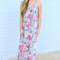 PATH WELL TRAVELED MAXI - GREY