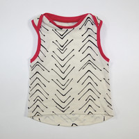 *Sample* Veeve Organic Boxy Tank in Black and Fuchsia - 3-6 Months