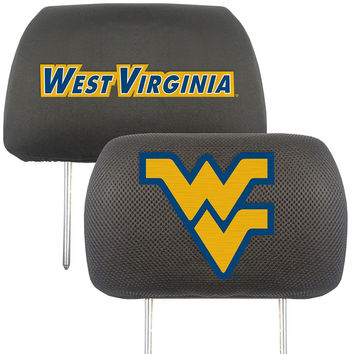 West Virginia Mountaineers NCAA Polyester Head Rest Cover (2 Pack)