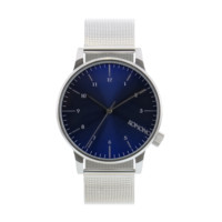 Komono Winston Royale Watch - Silver & Blue