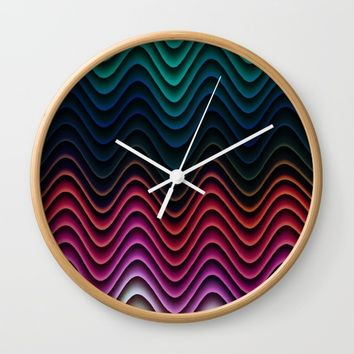 Flowing silk Wall Clock by Jeanette Rietz