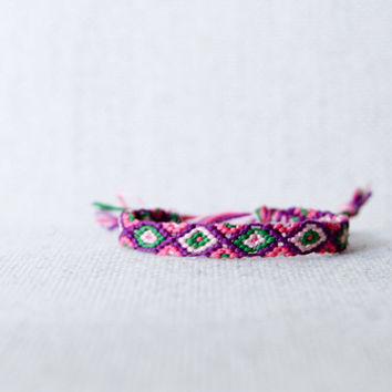 Tribal Diamond Pattern Friendship Bracelet / Christmas / Stocking Stuffer