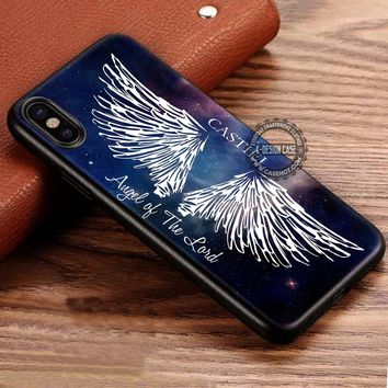 Angel of The Lord Castiel Supernatural iPhone X 8 7 Plus 6s Cases Samsung Galaxy S8 Plus S7 edge NOTE 8 Covers #iphoneX #SamsungS8