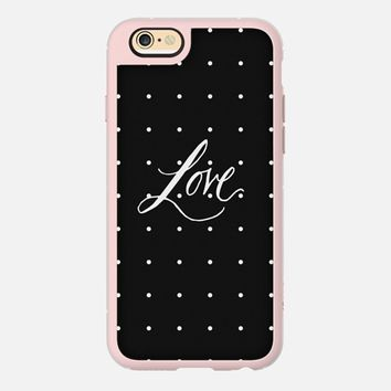 Polka dot LOVE iPhone 6 case by DuckyB   Casetify