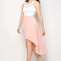 Chiffon Combo Dress