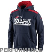Nike New England Patriots 2013 Player Sideline Nailhead Performance Hoodie - Navy Blue/Red