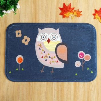 Autumn Fall welcome door mat doormat Owl Printed Funny s For Front Door Flannel Home Decor Entrance Mats Hallway Rugs Non-slip Bedroom Bedside Mats AT_76_7