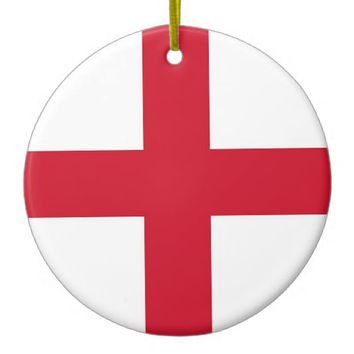 Ornament with flag of England