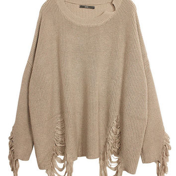 Cropped Beige Sweater
