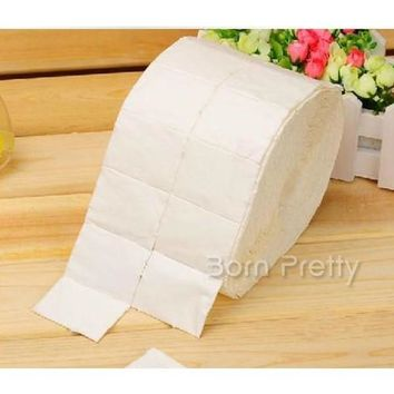 500Pcs/reel Professional Nail Polish Remover Cotton White Soft Polish Remover Paper