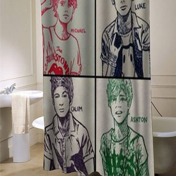 5 sos shower curtain customized design for home decor