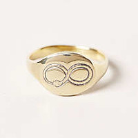 Anthropologie - Engraved Ouroboros Signet Ring
