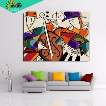sound of Music Drawing Painting By Numbers Kits Paint On Canvas Unique For Home DIY Painting By Numbers Wall Art Picture LXZ16