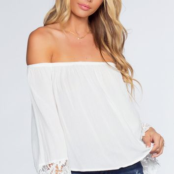 Lexi Off The Shoulder Top - White