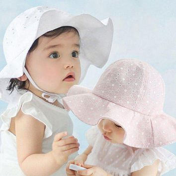 PEAP78W Infant Toddler Visor Cotton Sun Cap Floral Print Summer Outdoor Baby Girls Pink White Beach Bucket Hats 07