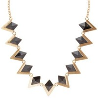 Black Triangle Necklace by Charlotte Russe