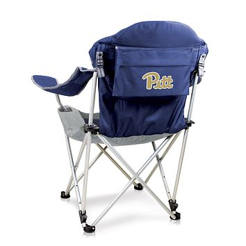 Pittsburgh Panthers Reclining Camp Chair-Navy Digital Print