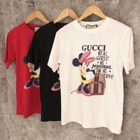 """Gucci"" Women Casual Cute Cartoon Disney Mickey Short Sleeve Round Neck T-shirt Top Tee"