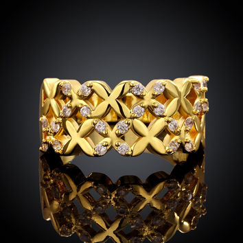 Macrame Stacking Gold Plated Ring