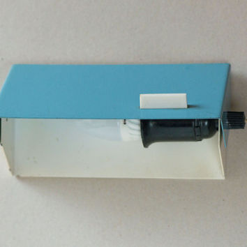 Minimalist  wall lamp white and turquoise shades rectangular lamp Soviet home lamp 2 lighting positions working
