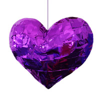 Heart Piñata Heart Shaped Piñata In Metallic Purple, Gold or Silver Wedding Piñata Baby Shower Piñata