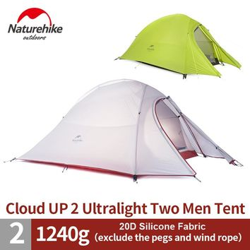 Nature Hike 2 Person Ultralight Tent | 20D Silicone Tent Double-layer Camping Tent