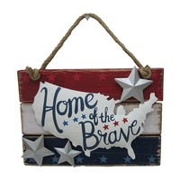 Americana ''Home of the Brave'' Wall Decor
