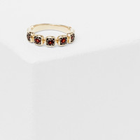 Totokaelo - Anna Sheffield Gold With Garnet Five Stone Ingot Band - $780.00