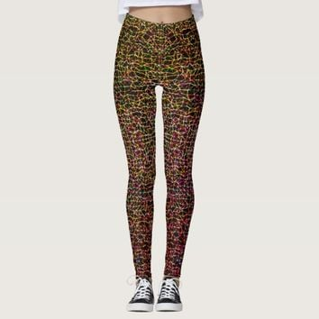 Colorful geometric pattern leggings